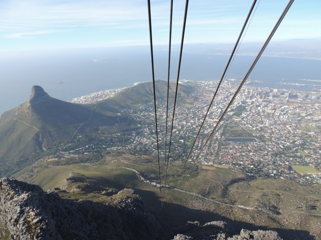 the view from the top of the Table Mountain Cable Way