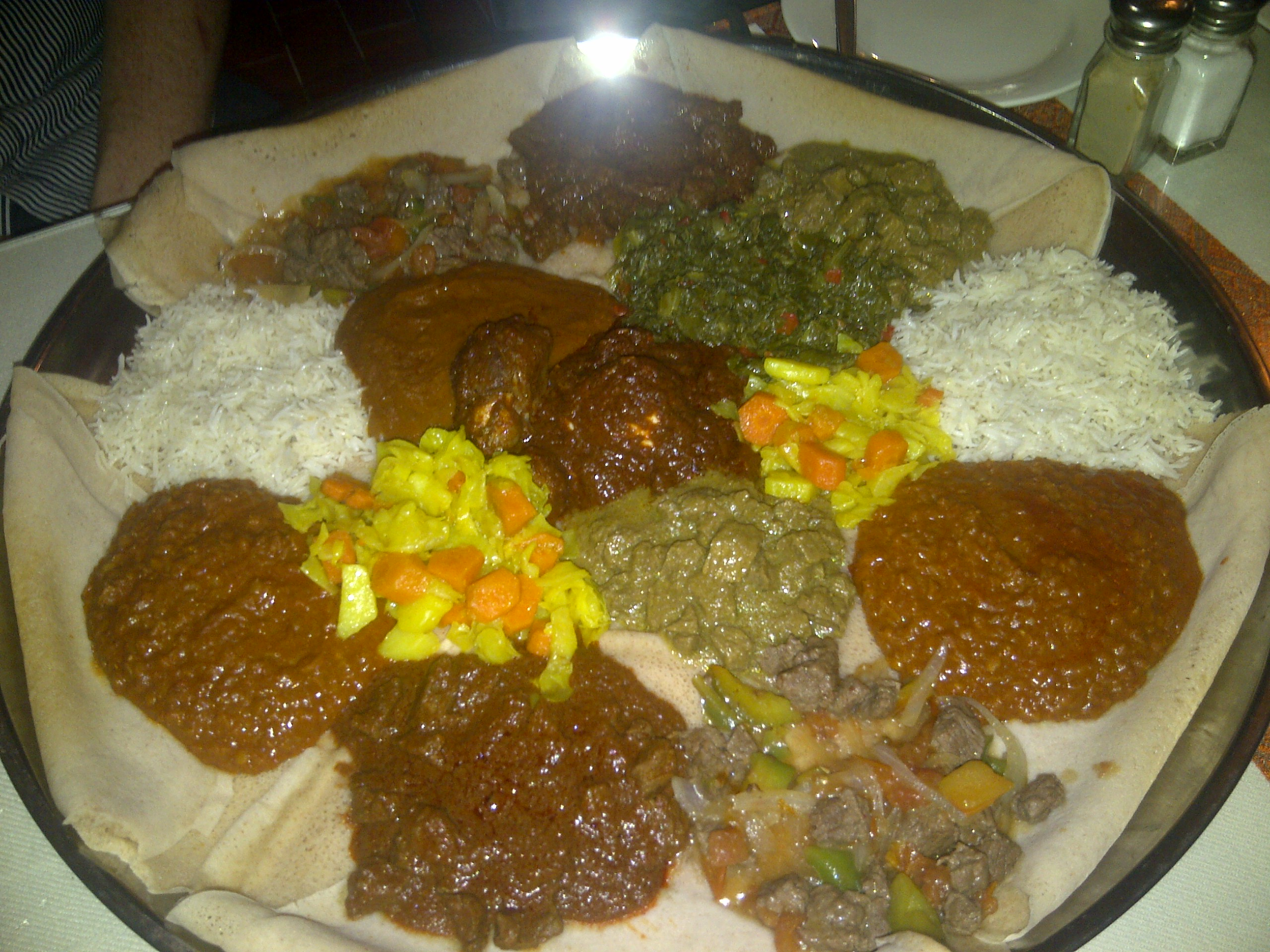 Traditional ethiopian food these two eyes for Authentic ethiopian cuisine