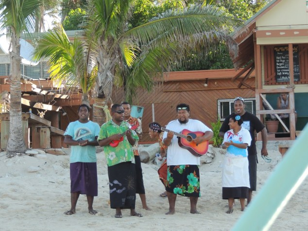Bula welcome at Beachcomber Island