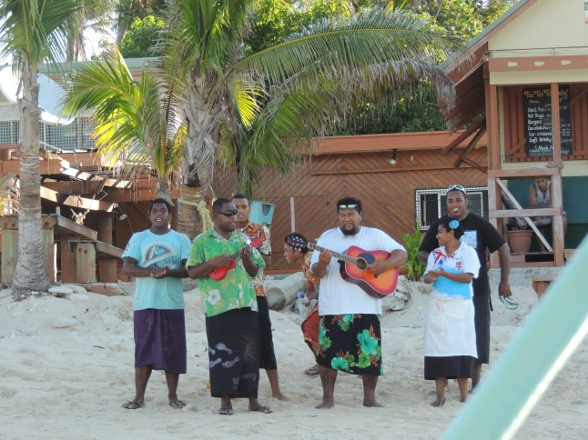 Bula welcome at Beachcomber Island