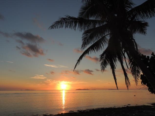 sunset on beachcomber island