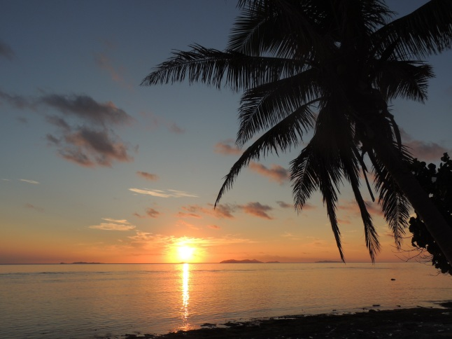 sunset on beachcomber island