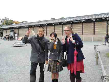 School children at Nijo Castle