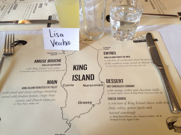 King Island Tasting Menu, The King and The Squire