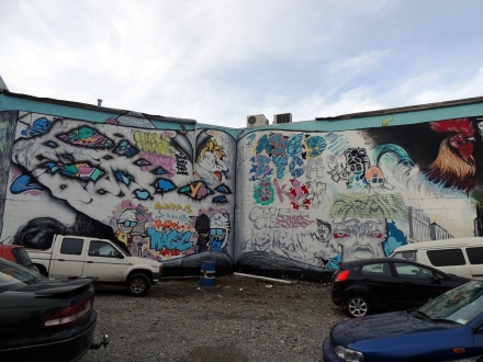 Christchuch chicken graffiti