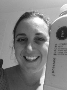 Lisa Vecchio with Pressed Juice