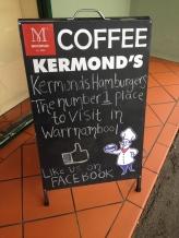 Kermond's Hamburgers Sign