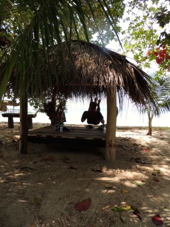 Relaxing on Pulau Tiga