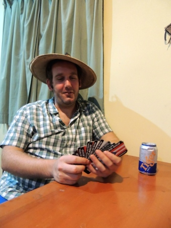 Ben playing cards