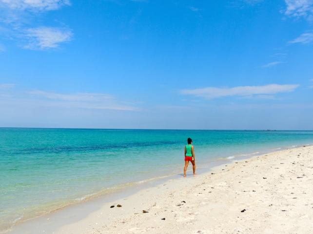 Nidya on Sand Spit Island