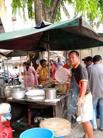 Banana fritter stall
