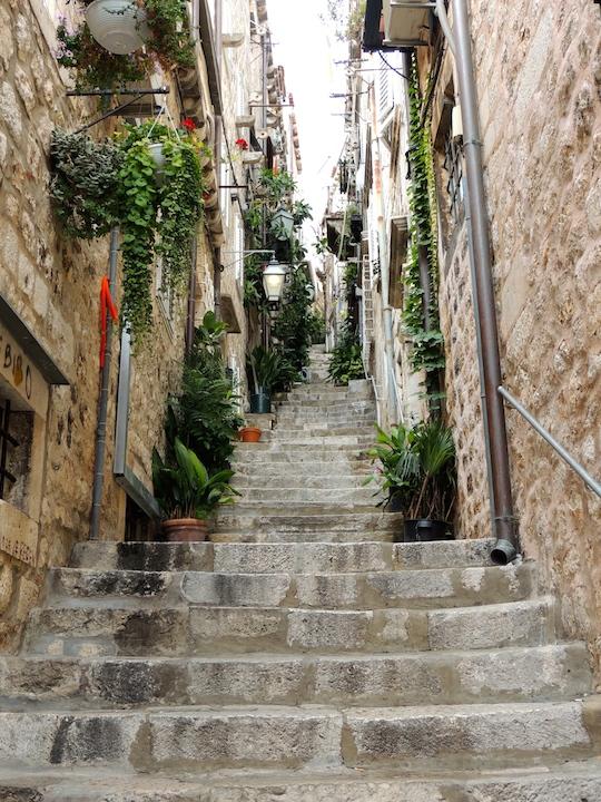Dubrovnik old town steps