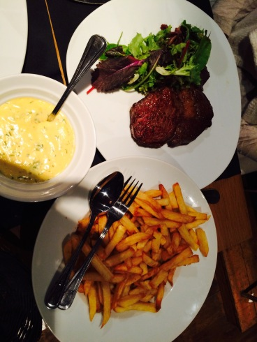 Steak and Frites at La Part des Anges, Lille