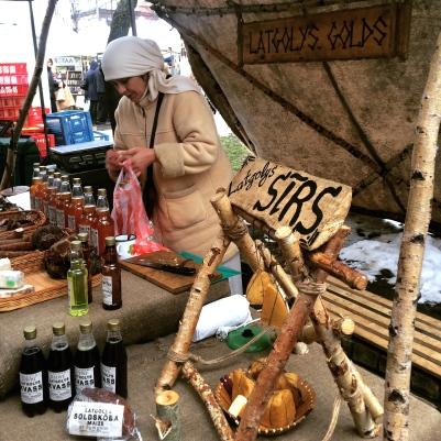 Vendor at Kalnciema Kvartāls (craft market, Riga)