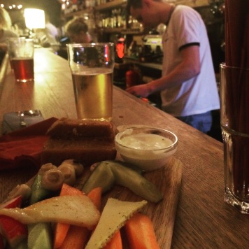 Platter and craft beer at Ala, Old Town, Riga