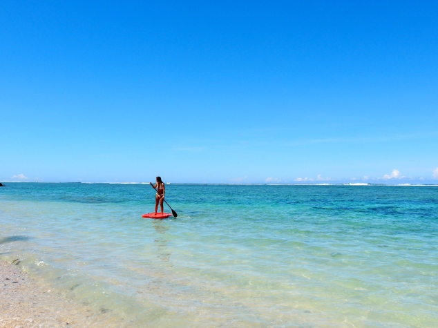 Stand up paddle boarding, Saletoga Sands, Samoa