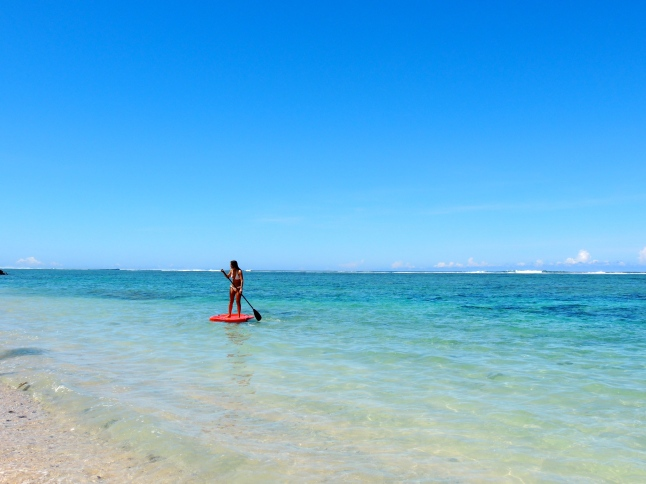 Stand up paddle boarding, Saletoga Sands, Samoa