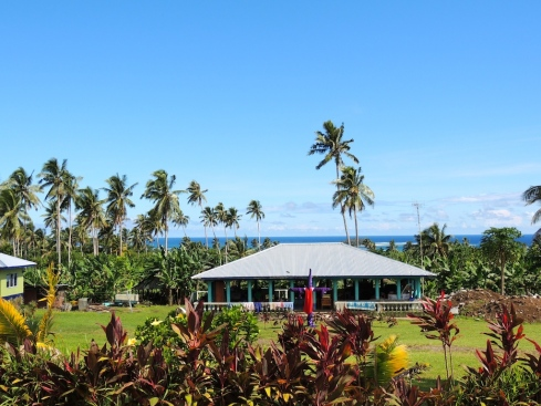 Local Samoan house on Upulou