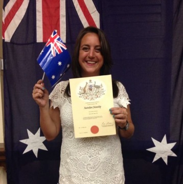 Lisa Vecchio, Australian Citizenship ceremony