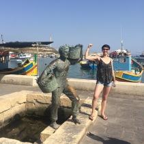 Sophie Clarke in Marsaxlokk, Malta