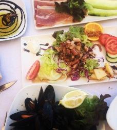Mussels, squid and prosciutto Ta' Pennellu, Marsalforn, Gozo