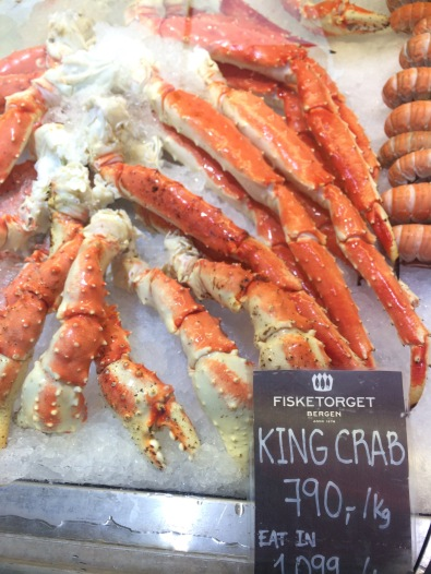 Expensive king crab, Bergen Fish Market