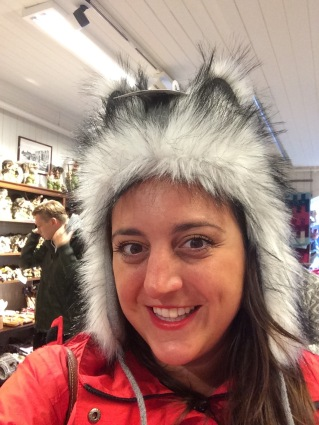 Souvenirs and wolf hats in Bergen