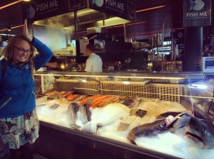 Shark at Fish Me; Fish Market Bergen, Norway