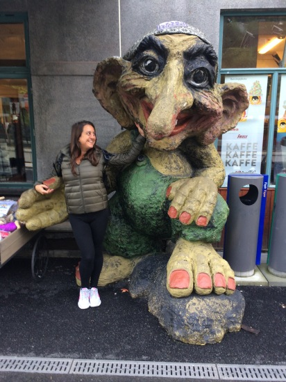 Huge troll at Voss train station, Norway