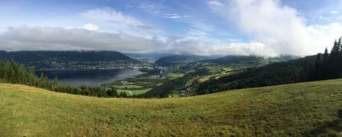 The view over Vangsvatnet, Voss