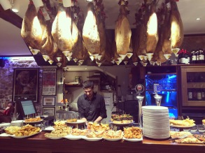 Jamon and pintxos at Casa Alcalde