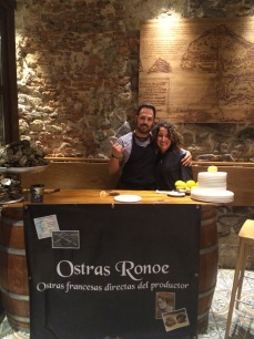 Fresh oysters from Ostras Ronoe