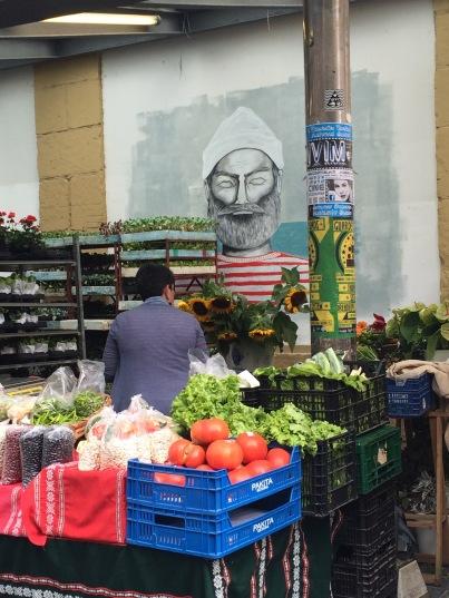 Fresh produce outside Mercado de la Bretxa