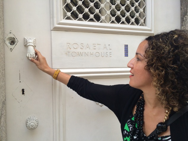 Knocking to enter the townhouse of Rosa Et Al to attend Secret Garden Supper Club