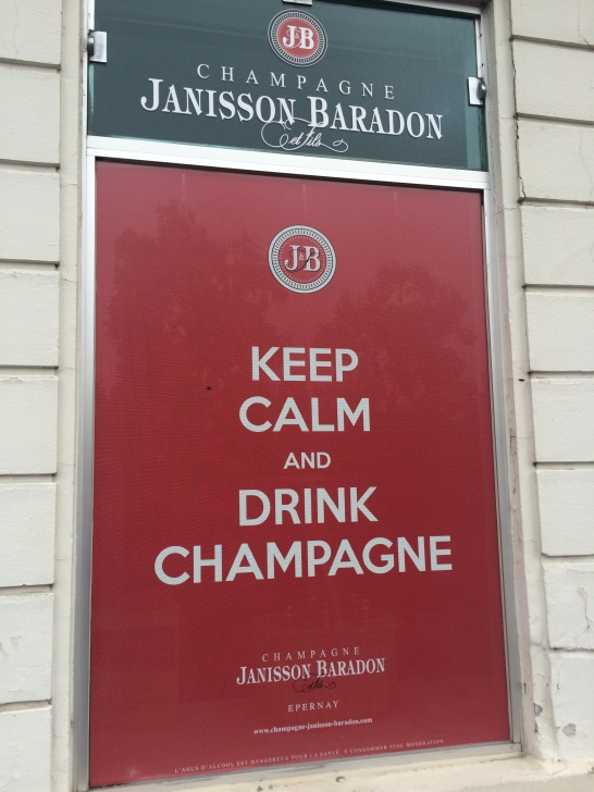 Keep calm and drink champagne!