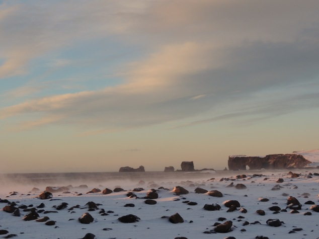 Taken from the Black Sand Beach, Vik