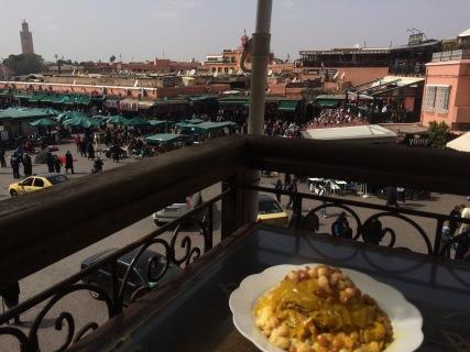 Overlooking Jemaa el-Fnaa at chez chegrouni, Marrakech