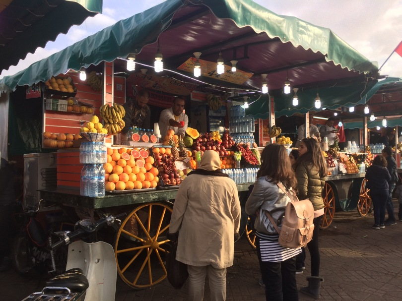 Orange juice stands, Jemaa el-Fnaa, Marrakech