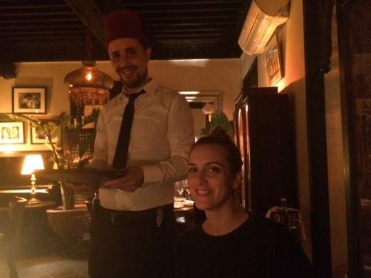 Waiter at La Salama with Fez