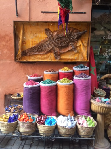 Colourful dyes, Medina, Marrakech