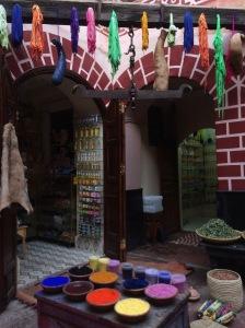 Cotton dye, dyer's market, marrakech