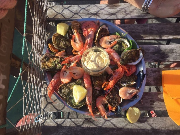 Seafood platter in Sète