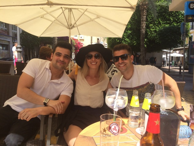 Jules with Al Fonso and Davide