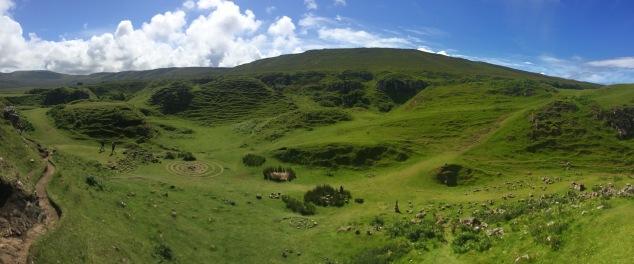 Fairy Glen landscape, Isle of Skye