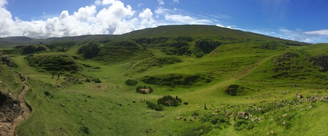 Fairy Glen landscape, Isle of Skye