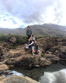 The crew at the Fairy Pools, Isle of Skye