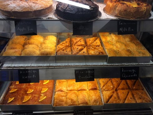 Baklava, Melenio Bakery, Oia
