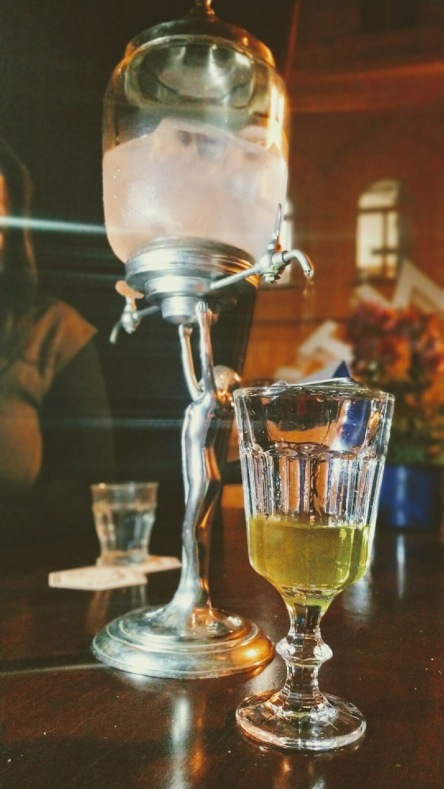 Absinthe served at BonVivant, Prague