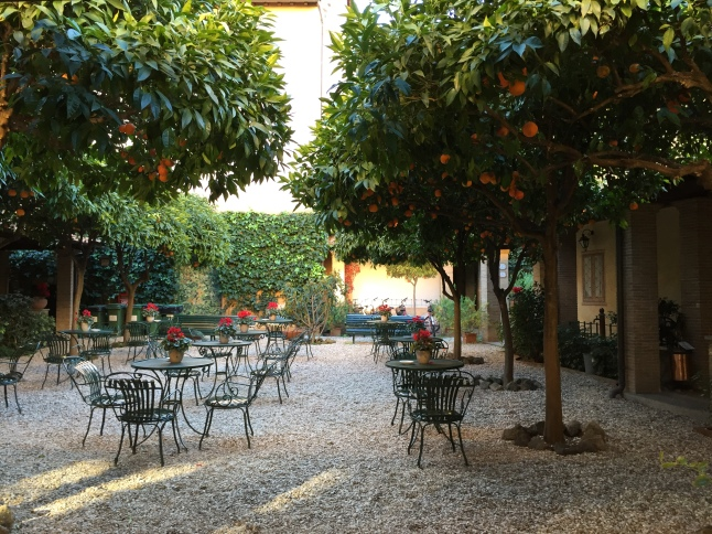 Orange Trees, Hotel Santa Maria, Trastevere