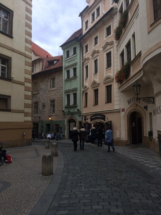 Pastel streets of Prague